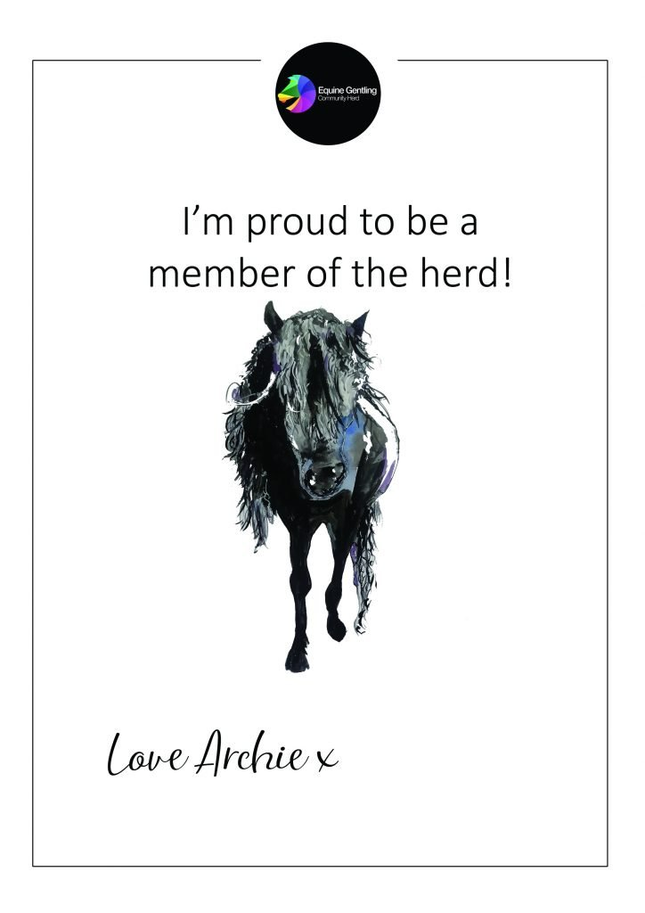 certificate and horse picture
